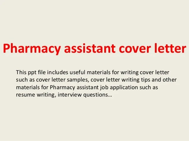 pharmacy cover letter examples - Josemulinohouse