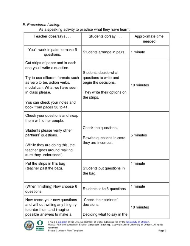 teaching lesson plans template - Minimfagency