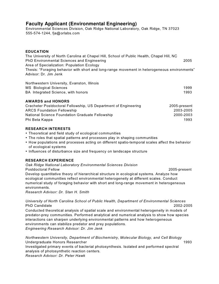 cv template biology phd