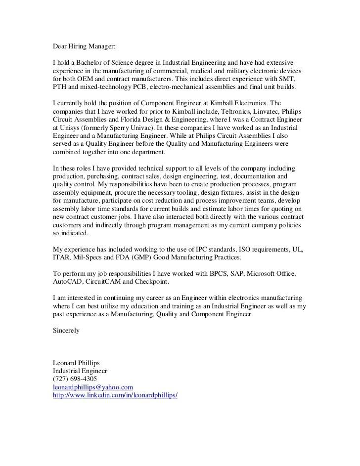Sample Basic Cover Letter And Resume Eduers Phillips Leonard Cover Letter
