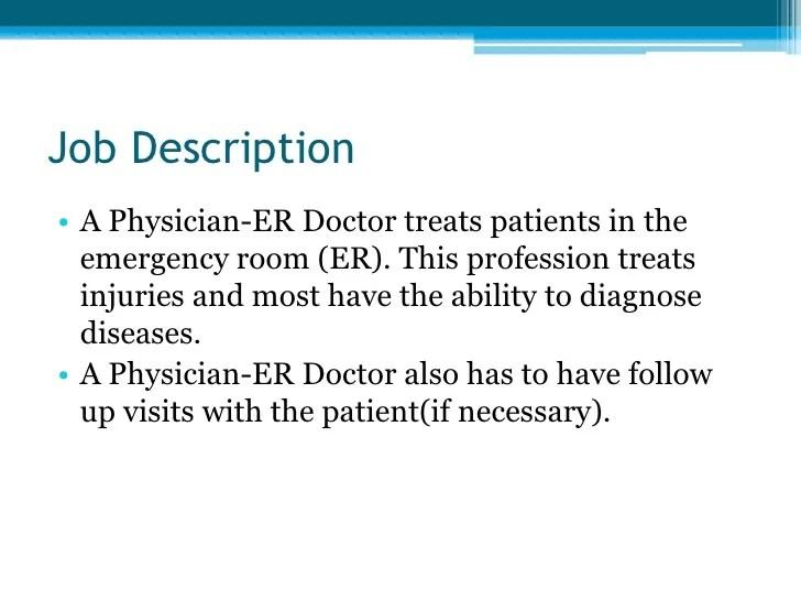 emergency physician job description - Onwebioinnovate - physician job description