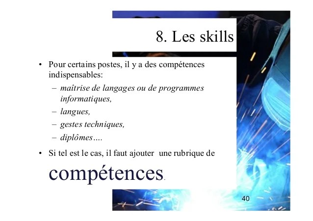 competences professionnelles cv consulting