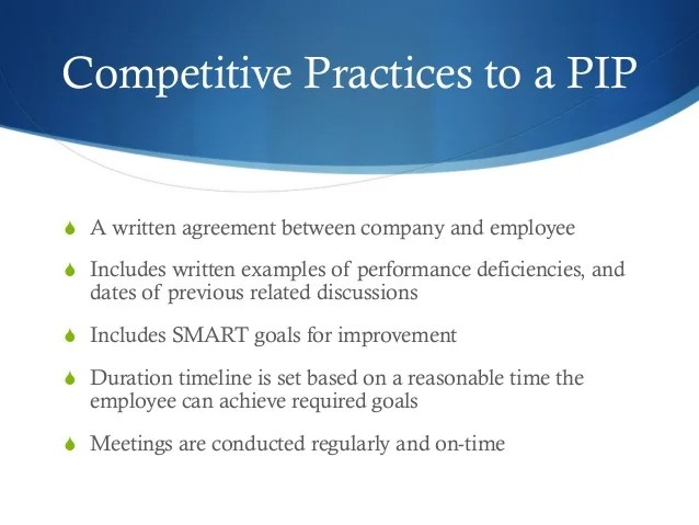 Sample Employee Performance Improvement Plan – Performance Improvement Plan Format