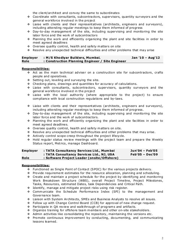Construction Project Manager Resume Samples Jobhero Pankaj Resume Construction Project Manager