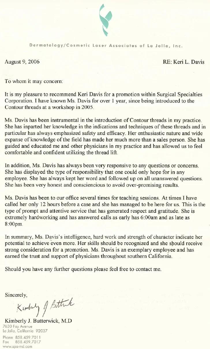 Sample Letter Of Recommendation Letter Samples Plastic Surgeon Letters Of Recommendation