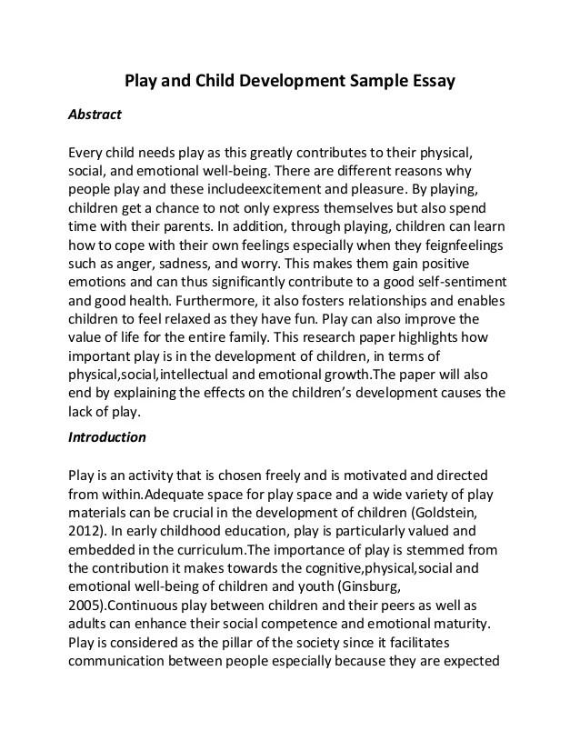 child observation essays