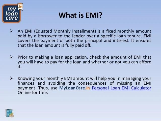 How to Use MyLoanCare Personal Loan EMI Calculator