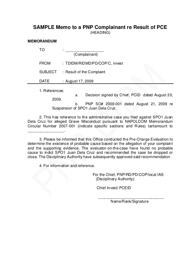 Sample Employment Termination Contract Findlaw Pnp Pre Charge Evaluation And Summary Hearing Guide