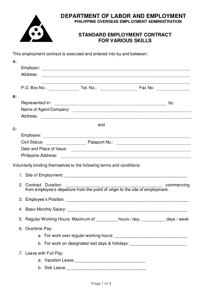 Termination Of Employment Contract Agreement | Resume Canada Date