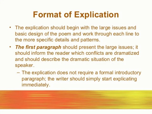 Examples Of An Essay Paper Poetry  Essay On Science And Technology also Thesis Statement For Comparison Essay Poem Explication Essay  Ivoiregion Sample Of Research Essay Paper