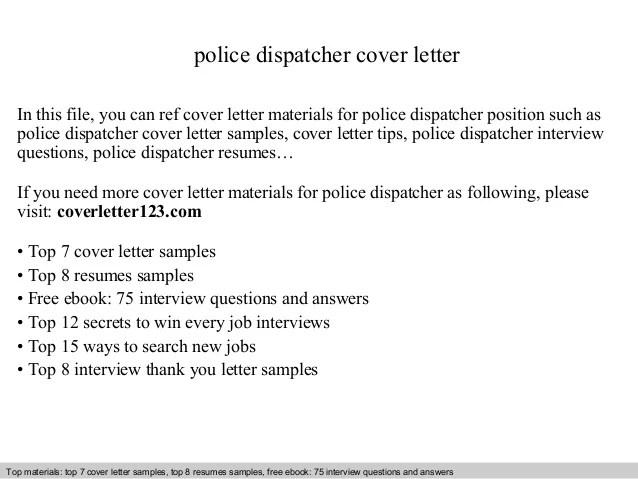 police dispatcher cover letter - Funfpandroid - dispatch clerk sample resume