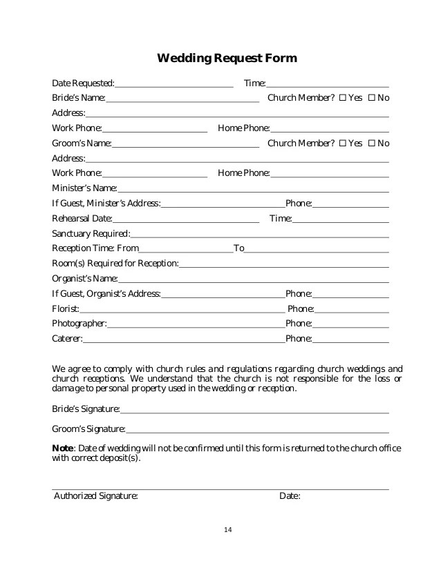 church event request form - Ibovjonathandedecker