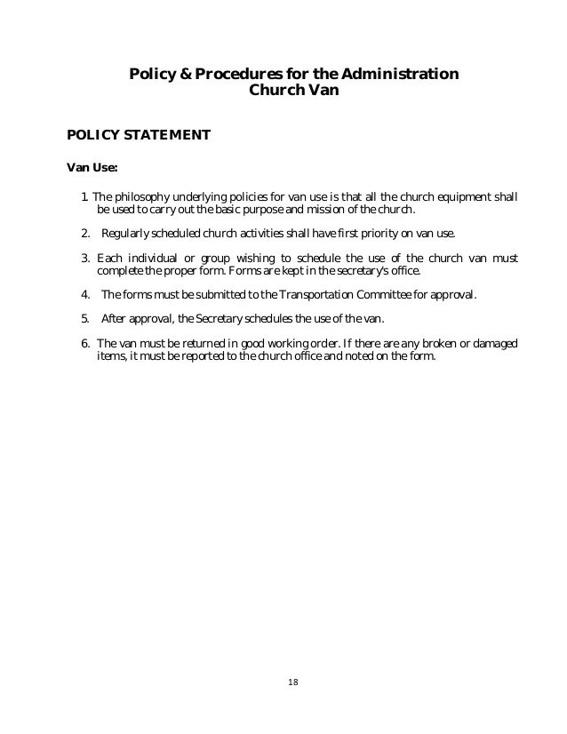 Sample Policy Manual Template - sample policy manual template