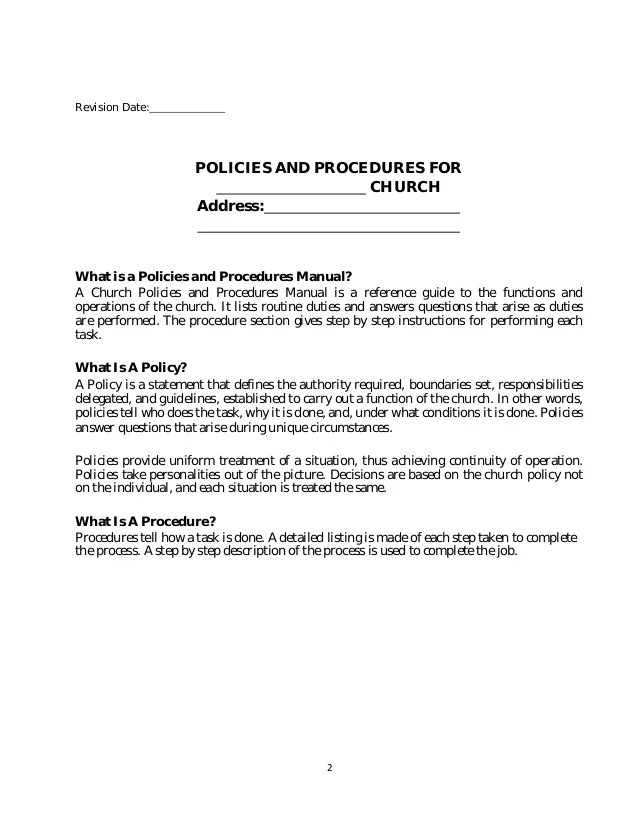 policies procedures manual template - Minimfagency