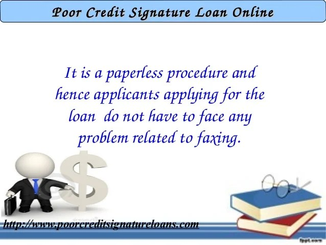 Poor Credit Signature Loan For Student