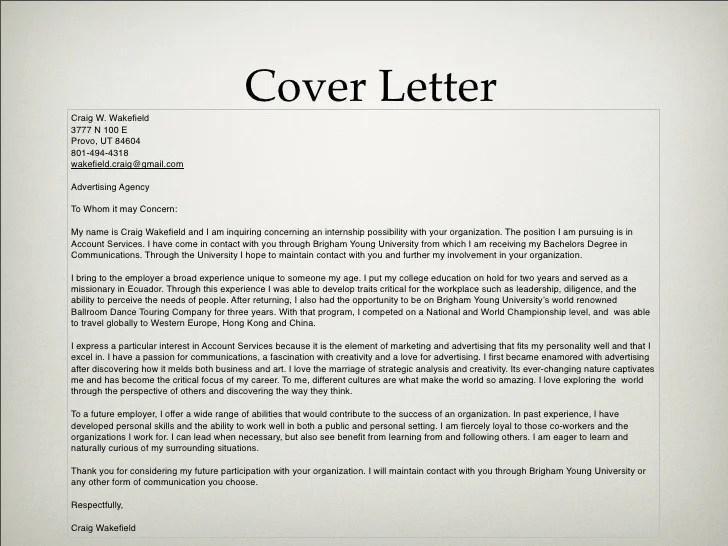 Resume Cover Letter Samples Bestsampleresume Advertising Portfolio