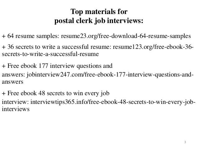 postal clerk resume sample - Pinarkubkireklamowe
