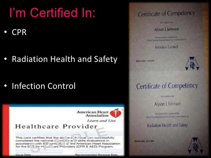 certified dental assistant resume - Josemulinohouse