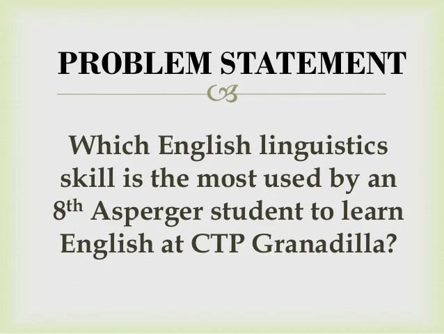 Learning Disability Wikipedia Case Study On Linguistic Skills Developed By An Asperger