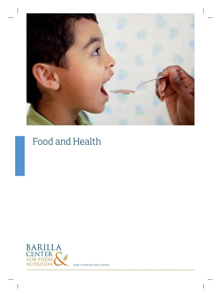 Position Paper Food And Health En
