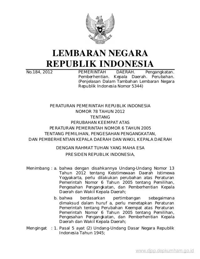 Uu Tentang Desa Terbaru Undang Undang Desa Wikipedia Bahasa Indonesia Keempat Atas Peraturan Pemerintah Nomor 6 Tahun 2005 Tentang Pemilihan