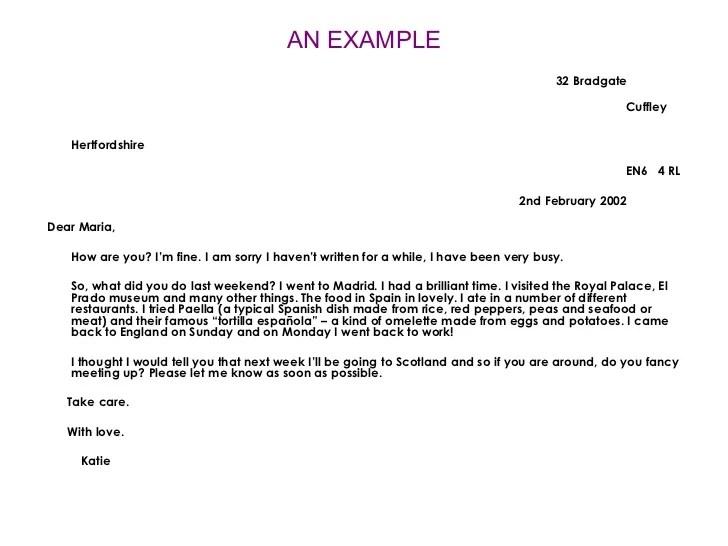 informal letter template - Apmayssconstruction