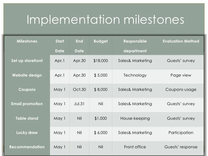 Photo Collection Marketing Implementation Plan Template - implementation plan template