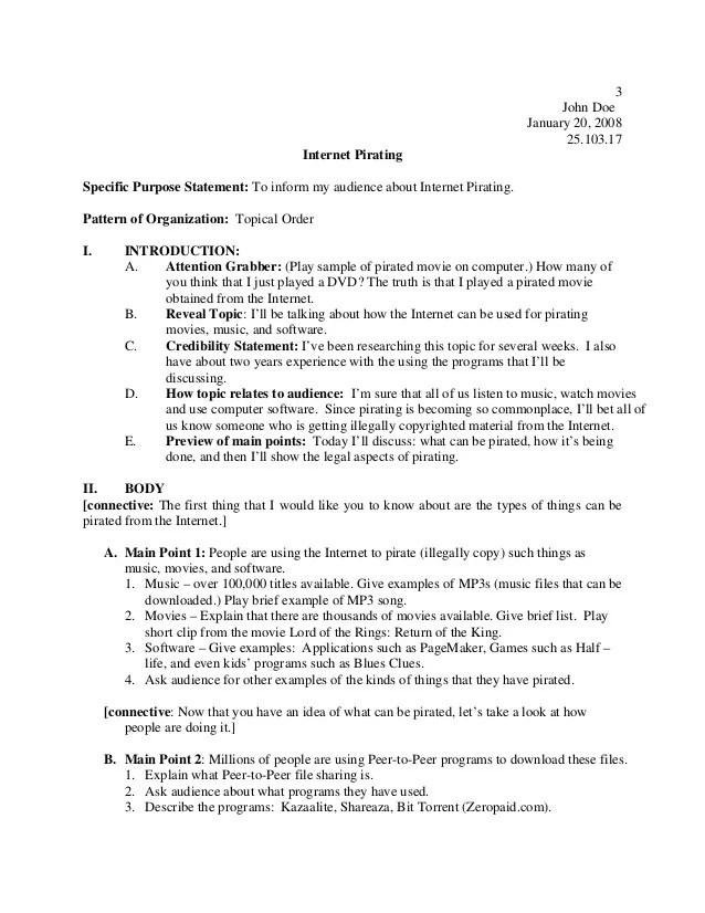 demonstrative speech outline template - Josemulinohouse - speech outline example