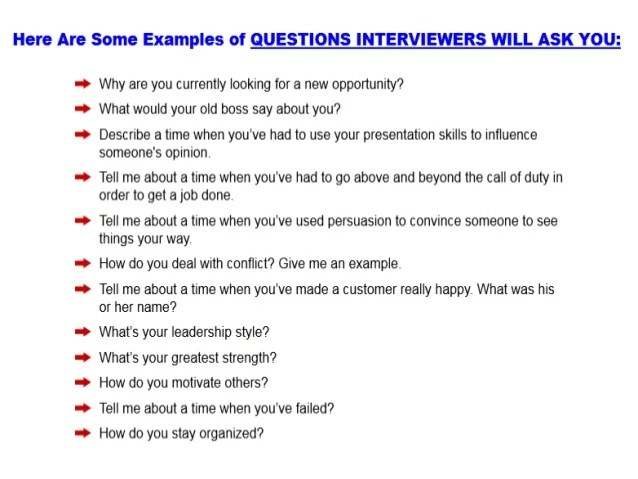 sample q and a for job interview - Ozilalmanoof
