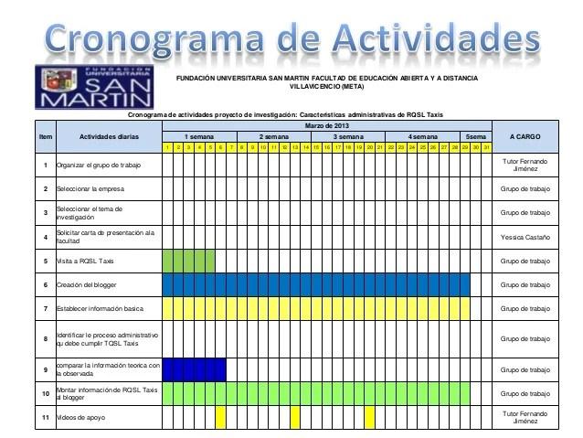 formato cronograma de actividades excel gottayotti