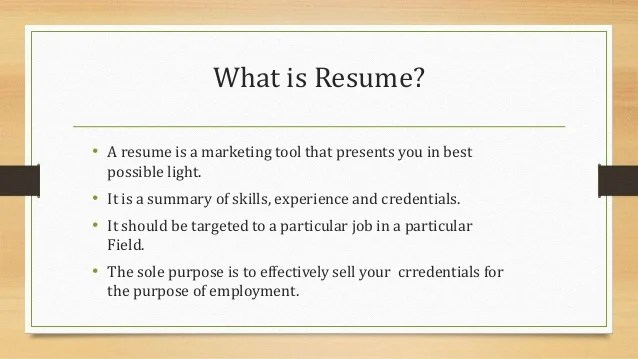 what is resumes - Goalgoodwinmetals