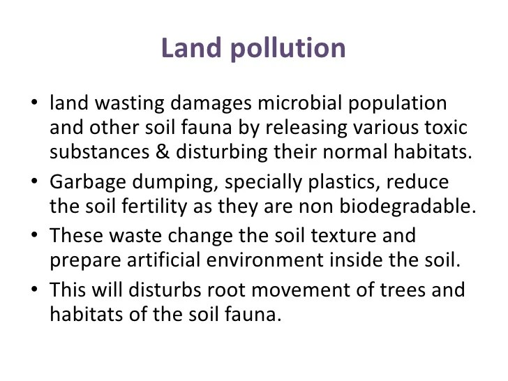 Essay On Land Pollution Essay On Soil Pollution For