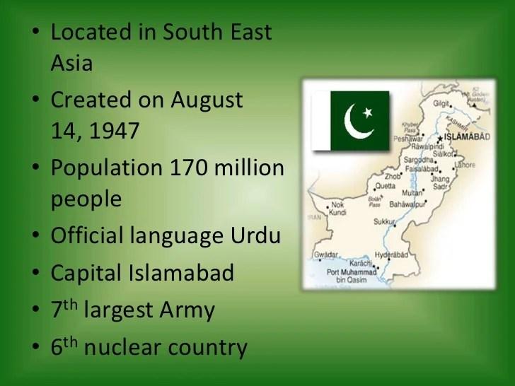 Presentation On Pakistan