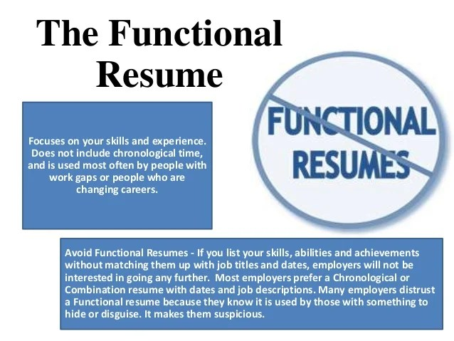 chronological resume vs functional resumes