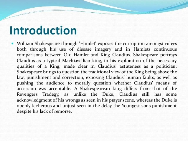 Presentation On Hamlet By William Shakespeare