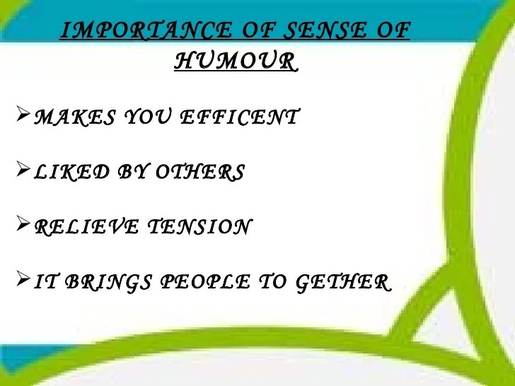 Essay About Sense Of Humor