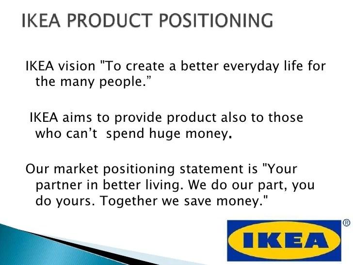 Ikea Mission Statement Presentation On Ikea