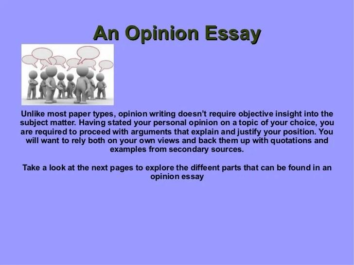Presentation Opinion Essay
