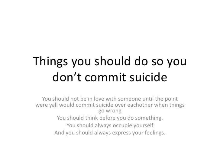 Sheldon39s Preventing Suicide