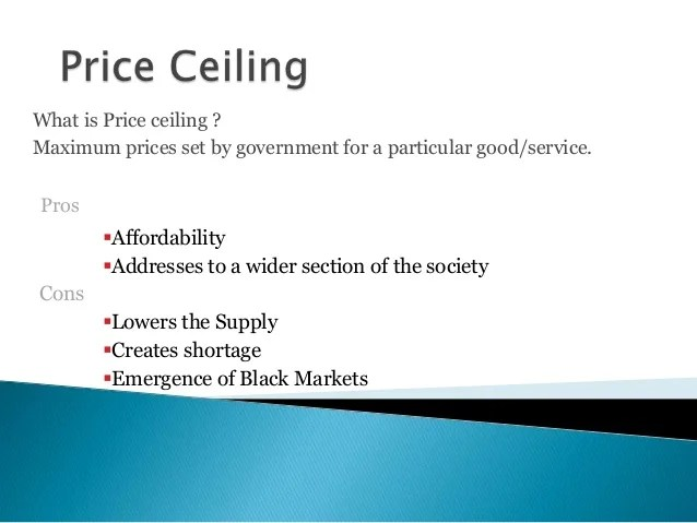 Price Ceiling And Price Floor