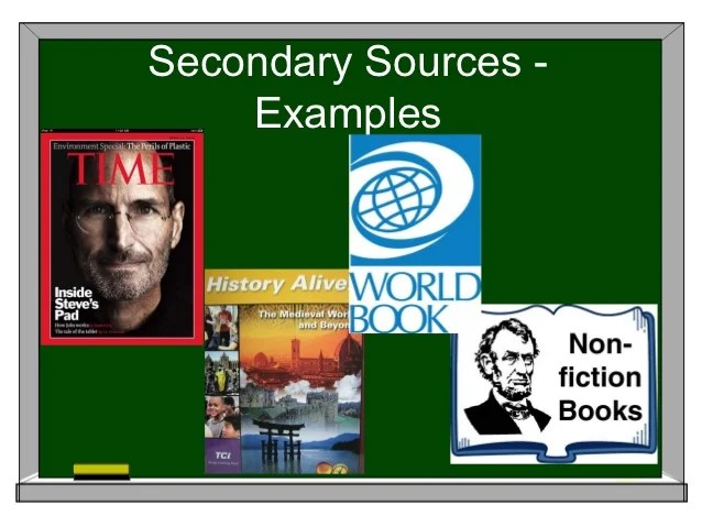 secondary source definition