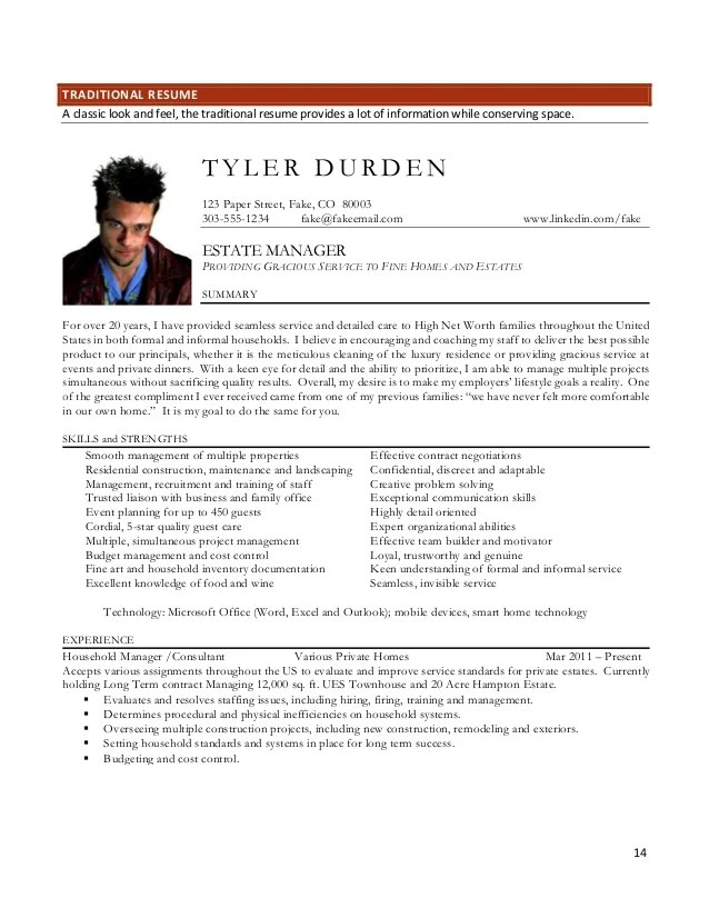 traditional vs modern resume - Josemulinohouse - Household Manager Resume