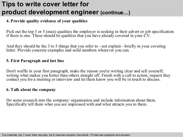Product Engineer Cover Letter - sarahepps - - Engineering Cover Letter Format