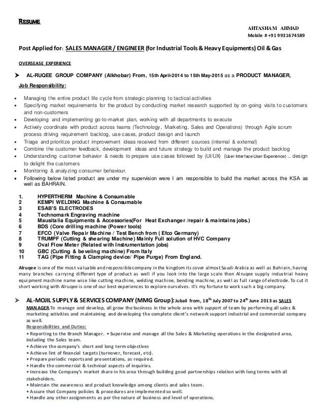 Industrial Sales Engineer Sample Resume Sales Engineer Resume - industrial sales engineer sample resume