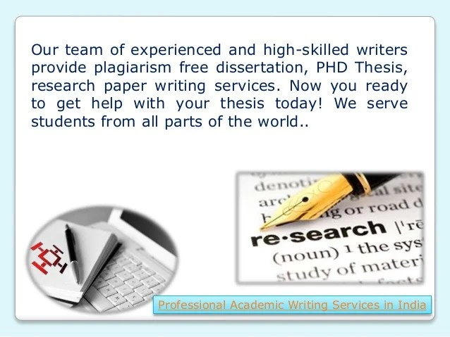 Professional research paper writers in india : Online Writing Service