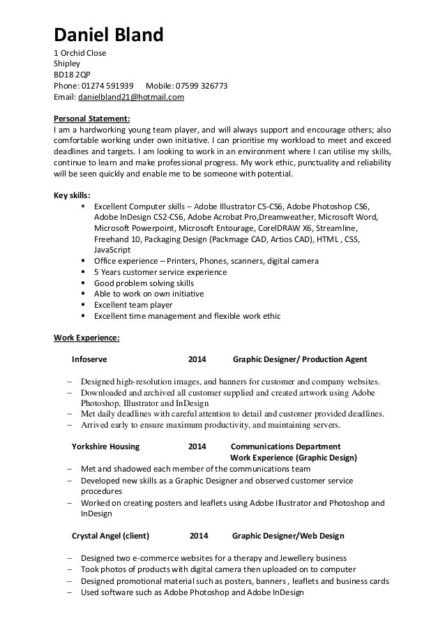 resume personal statement example - Josemulinohouse