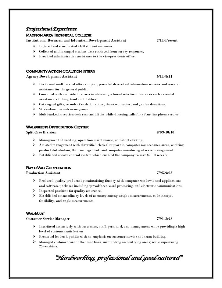Sample Resume For Administrative Assistant Professional Profile Resume 11 1 11