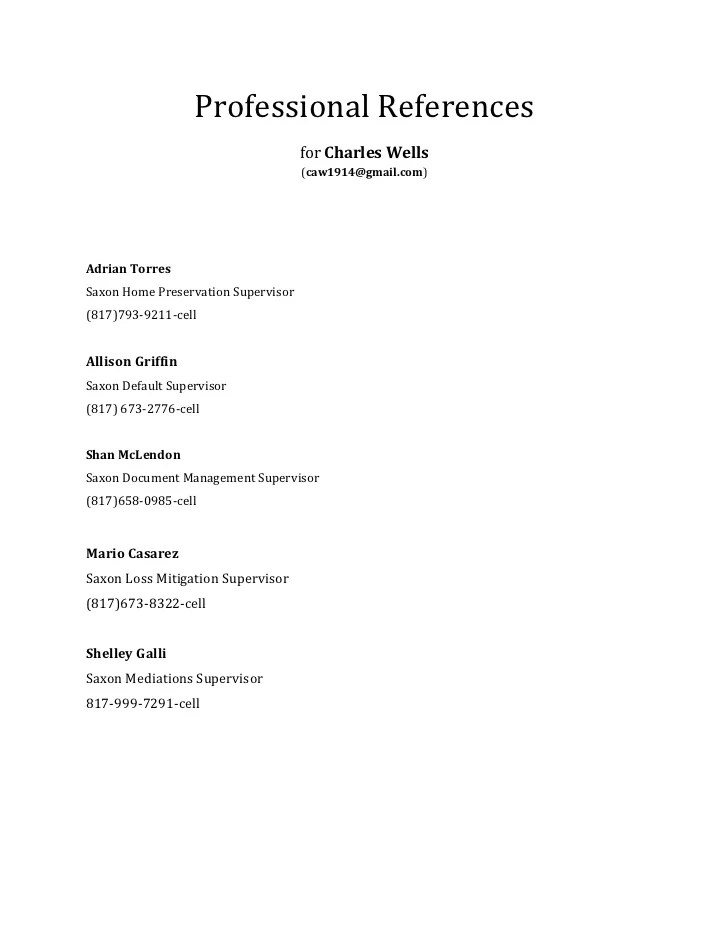 bad resume references