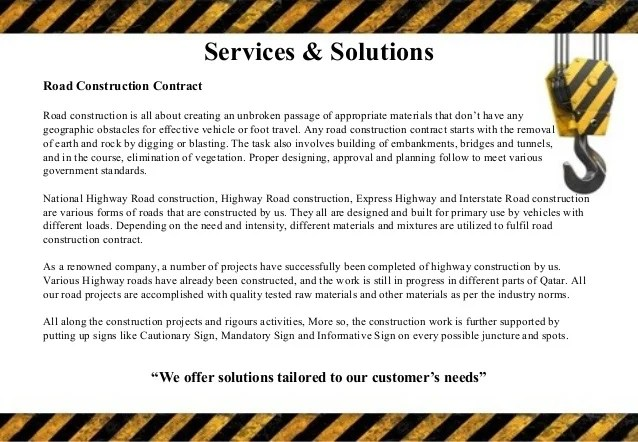 Construction Company Profile Template Slideshare Construction Company Profile Template