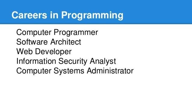 computer programming careers - Leonescapers